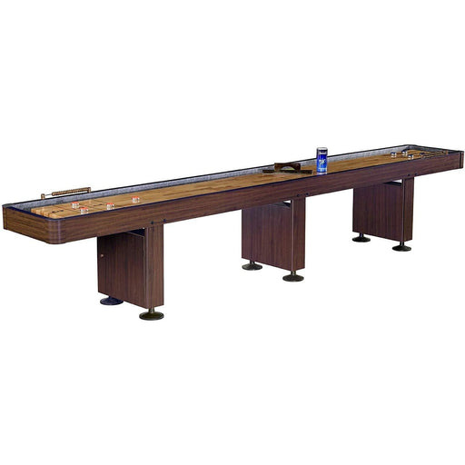 Shuffleboard Table w Dark Cherry Finish 12 Feet shuffleboard