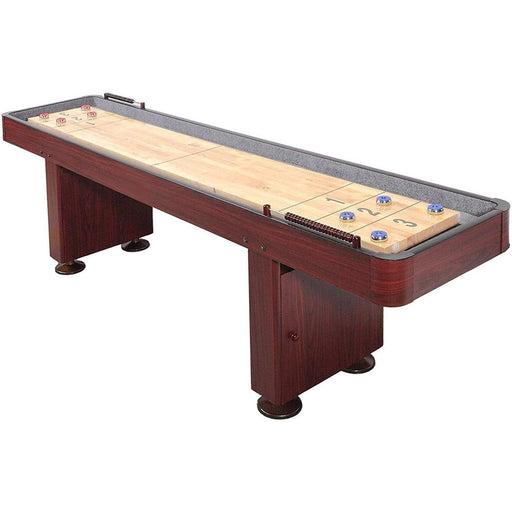 Shuffleboard Table w Dark Cherry Finish 9 Feet shuffleboard