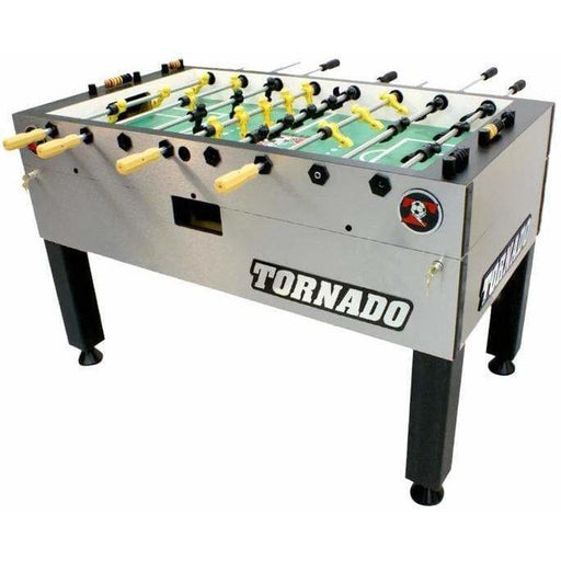 Tornado® T-3000 Platinum Silver Foosball Table Non-Coin Home Edition TPYMSTP1  TPYMSTP3 Foosball Table