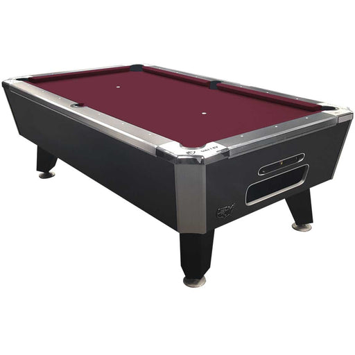 "Valley Panther Black Cat 88"" 6.5 Foot Billiard Pool Table Charcoal Chromatic Finish With Red Cloth HPCRG Billiard Table"
