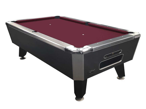 "Valley Panther Black Cat 93"" 7 Foot Billiard Pool Table Charcoal Chromatic Finish With Red Cloth HPBRG Billiard Table"