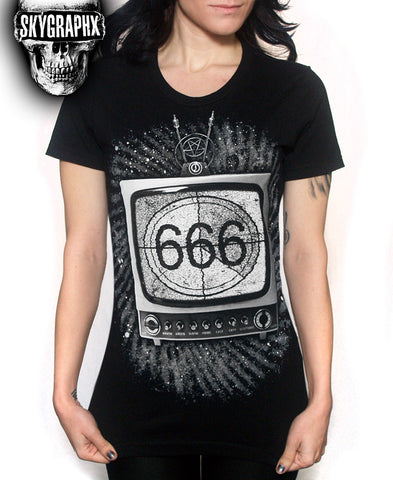 666 TV LADIES T