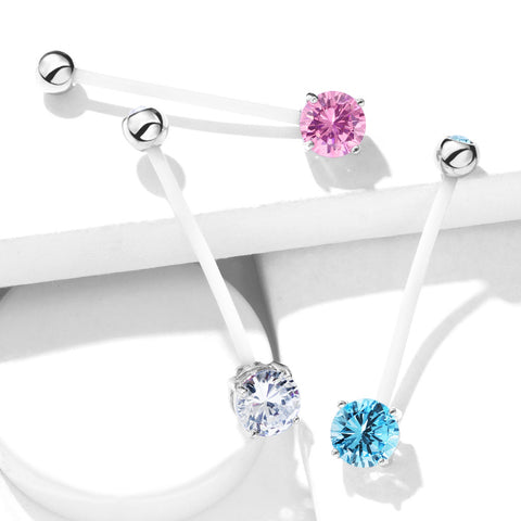 Double Jeweled Prong Set Pregnancy