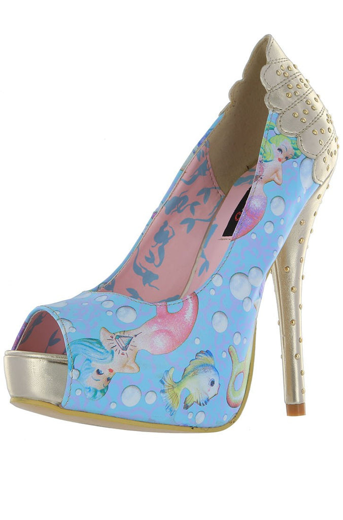 Lollipop Lorelei Peep Toe Platform ❤ Light Blue