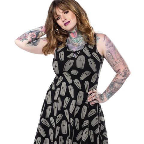 6 FEET UNDER KEYHOLE SKATER DRESS