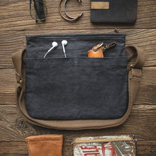 Load image into Gallery viewer, Waxed Canvas Messenger Bag