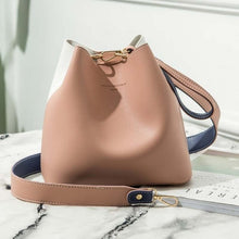 Load image into Gallery viewer, Faux Leather Bucket Bag