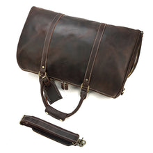 Load image into Gallery viewer, Leather Travel Duffel