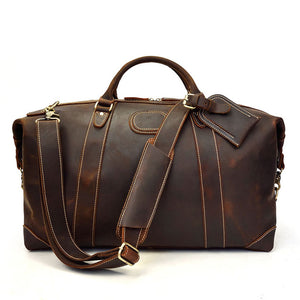Leather Travel Duffel