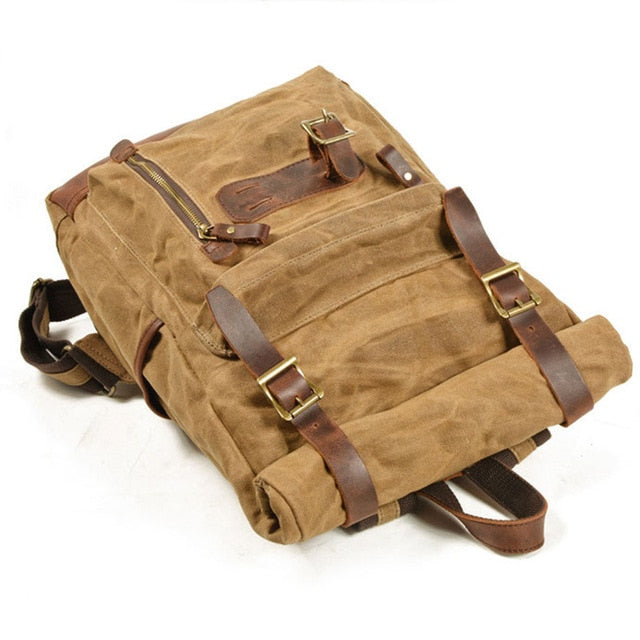 Oil Waxed Canvas Rucksack