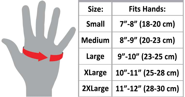 Leather Gloves Sizing Chart
