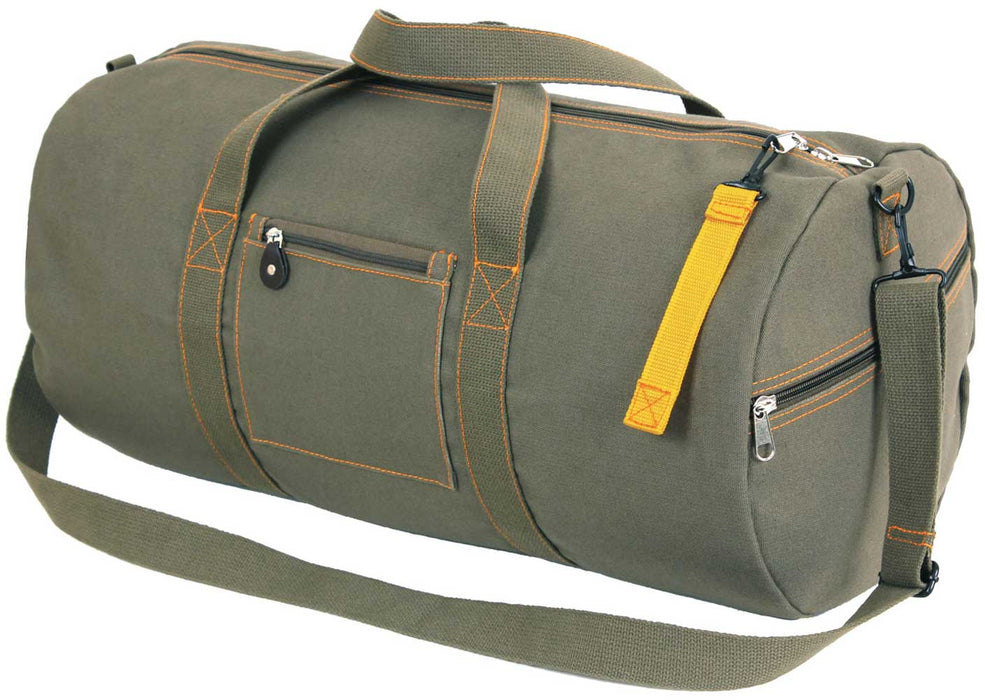 Olive Green Large Canvas Equipment Bag