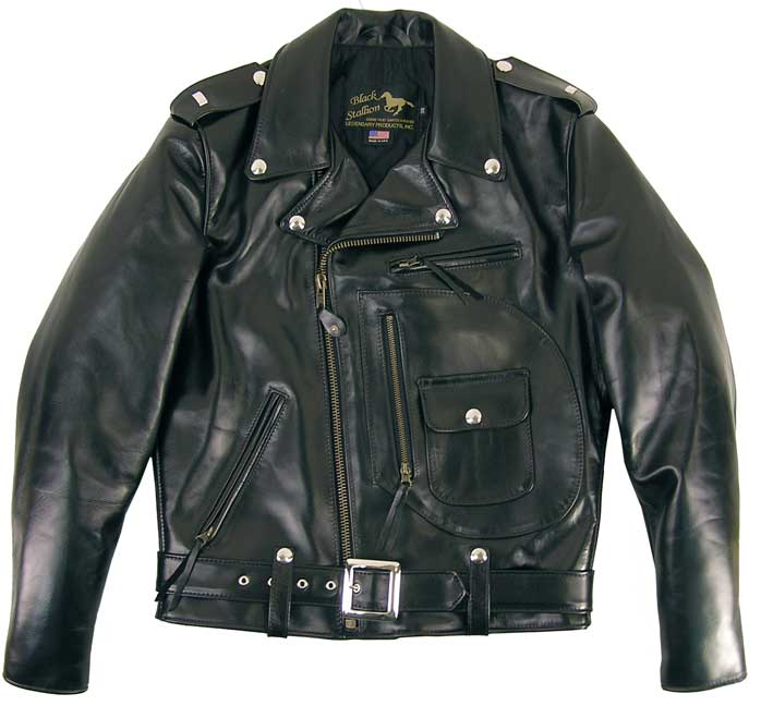 Legendary Black Stallion Horsehide Motorcycle Jacket