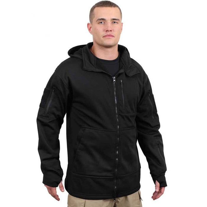 Rothco Mens Black Tactical Zip-Up Hoodie SWATshirt