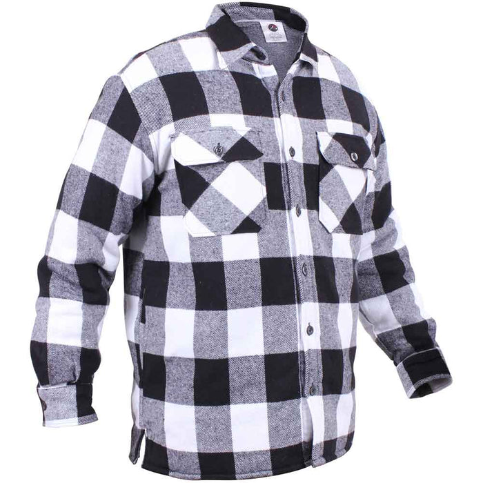 Rothco Mens Sherpa Lined Plaid Flannel Shirt