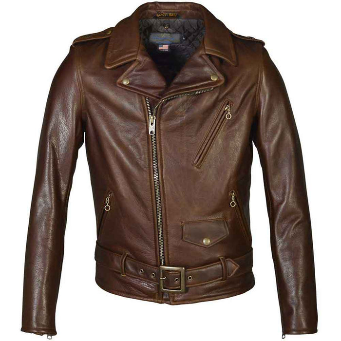 Schott NYC Mens 519 Perfecto Waxy Cowhide Motorcycle Jacket