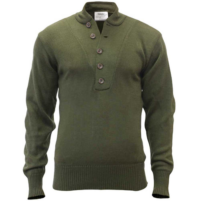 Rothco Mens Military Style 5 Button Sweater
