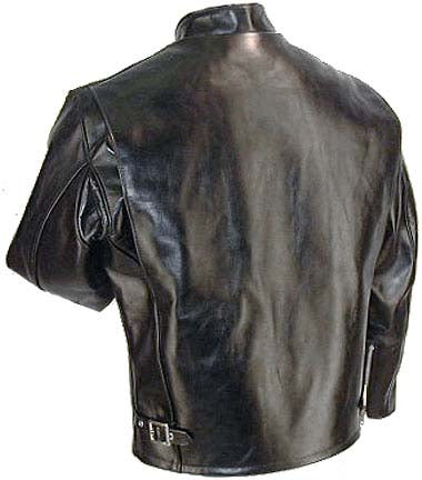 Schott NYC Mens 641HH Horsehide Cafe Racer Motorcycle Jacket