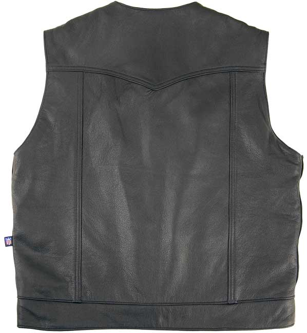 Legendary Brotherhood Mens Leather Motorcycle Vest with Gun Pockets