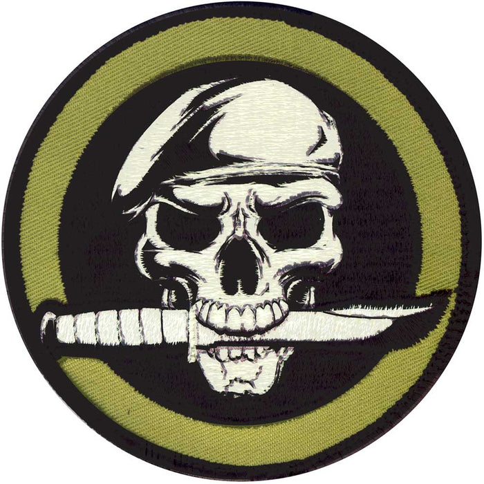 Velcro Backed Skull and Knife Morale Patch