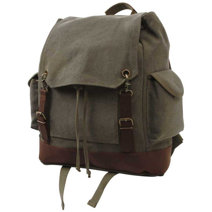 Vintage Expedition Olive Rucksack Backpack