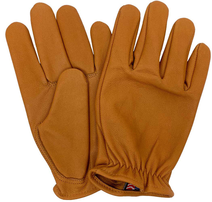 Legendary Bad Billy Mens Tan Goatskin Short Wrist Gloves