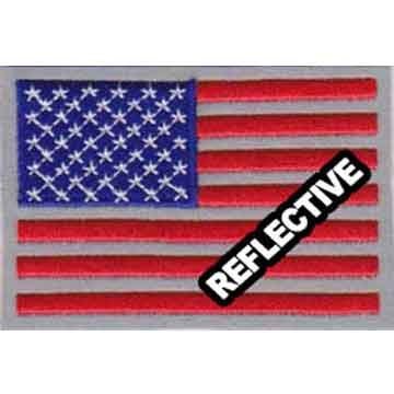 REFLECTIVE American Flag Uniform Patch