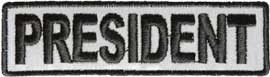 REFLECTIVE Motorcycle Club President Patch