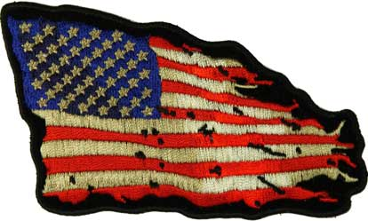 Tattered American Flag Patch