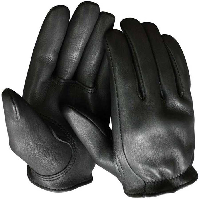 Churchill Mens Deerskin Leather Short Wrist Motorcycle Gloves
