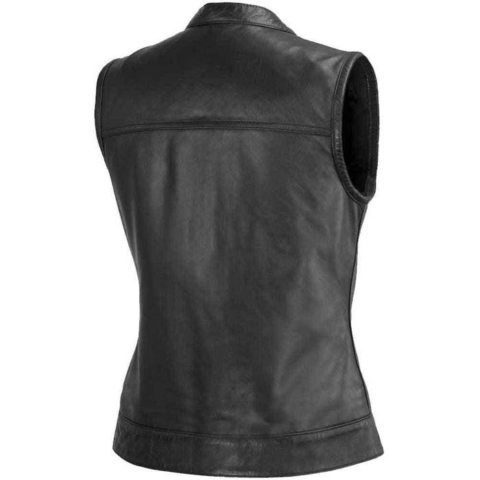 First Mfg Womens Ludlow Leather Motorcycle Vest