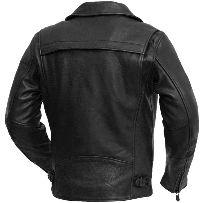 First Mfg Mens Night Rider Vented Leather Motorcycle Jacket