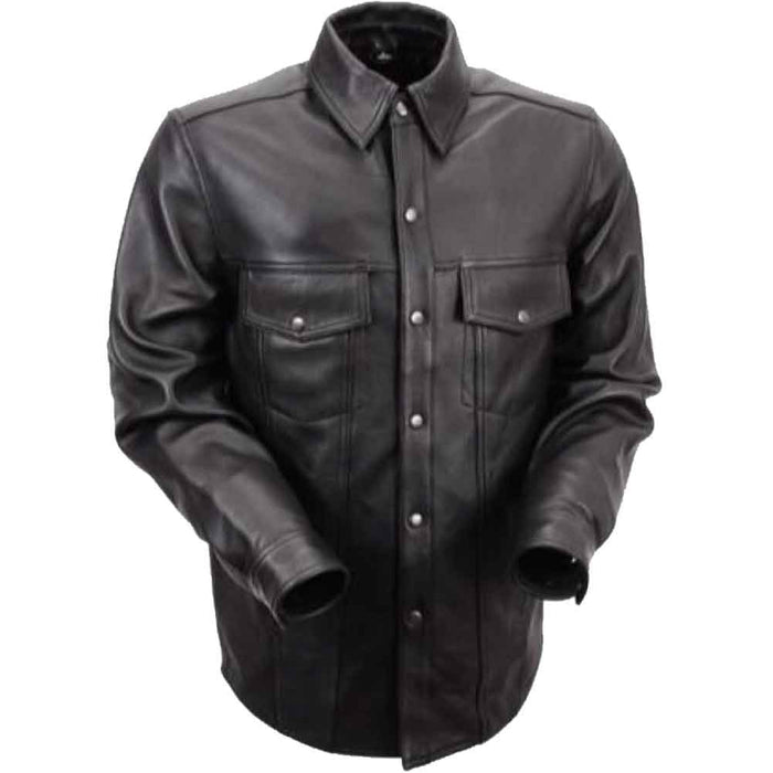 First Mfg Mens Milestone Leather Shirt