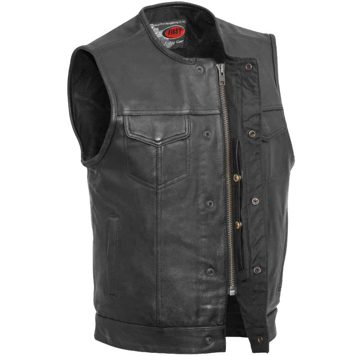 First Mfg Mens No Rival Concealment Leather Vest