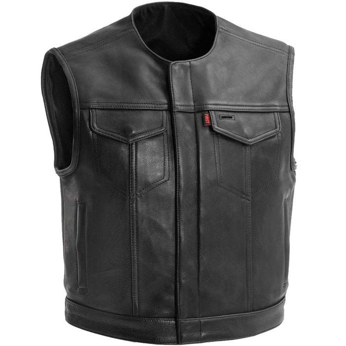 First Mfg Mens Lowside Cropped Concealment Leather Vest