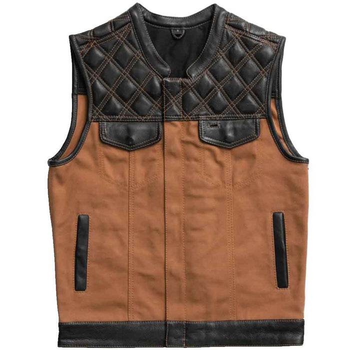 First Mfg Mens 49/51 Hunt Club Leather Vest