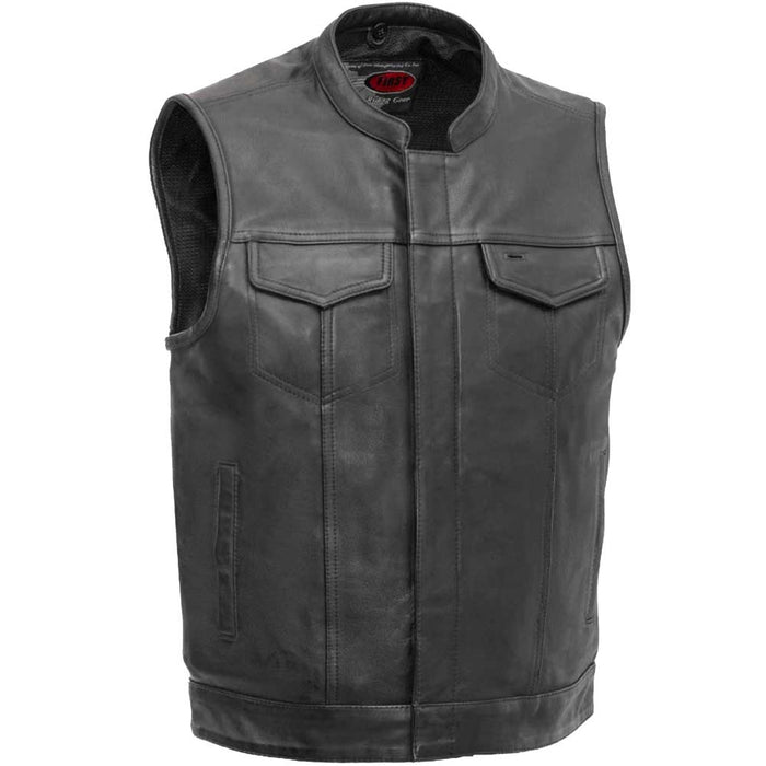 First Mfg Mens Sharp Shooter Concealment Leather Vest
