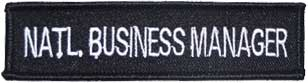 Motorcycle Club National Business Manager Patch