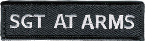 Motorcycle Club Sgt At Arms Patch