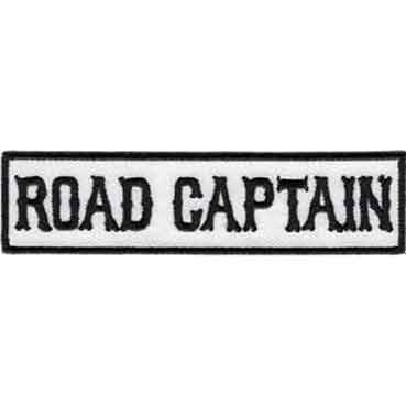 Motorcycle Club White Road Captain Patch