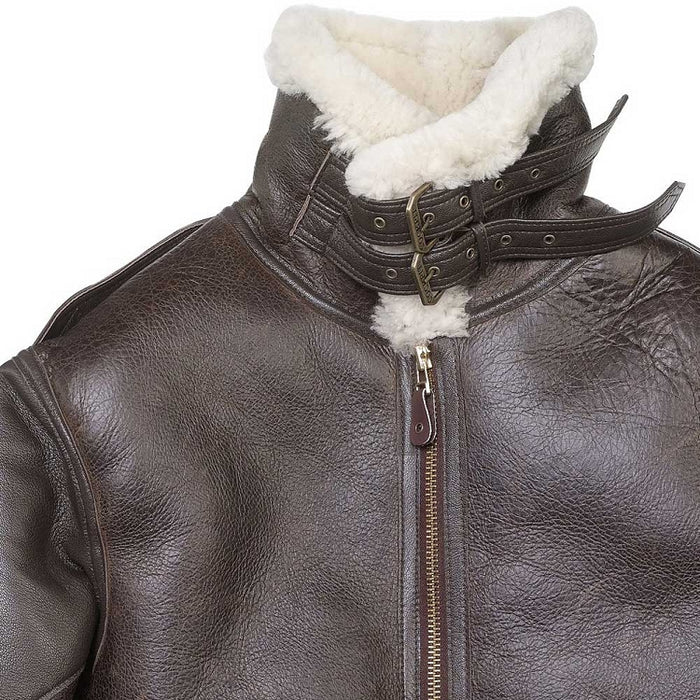 Cockpit USA Mens The General B-3 Sheepskin Bomber Jacket