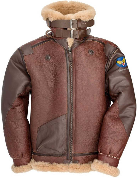 Cockpit USA Mens Pearl Harbor Reproduction B-3 Sheepskin Bomber Jacket