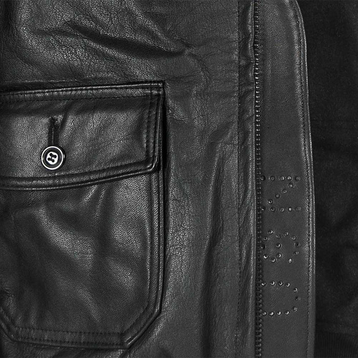 Cockpit USA Mens USN Submariner G-1 Leather Flight Jacket