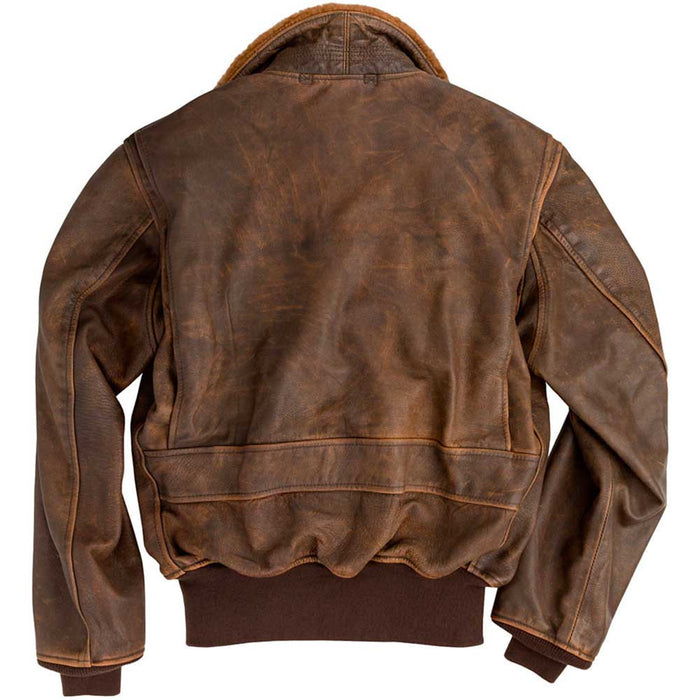 Cockpit USA Mens Avenger Vintage G-1 Leather Flight Jacket