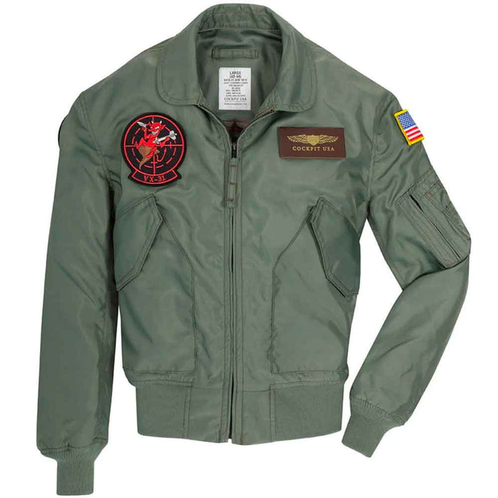 Cockpit USA Mens Movie Heroes Top Gun Nylon Flight Jacket