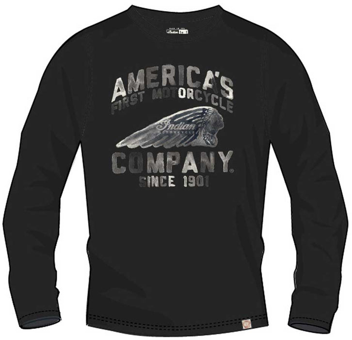 Indian Motorcycle Mens America's First Motorcycle Long Sleeve Shirt