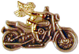 Motorcycle Angel Lapel Pin