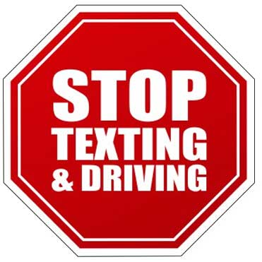 Stop Texting & Driving Sticker