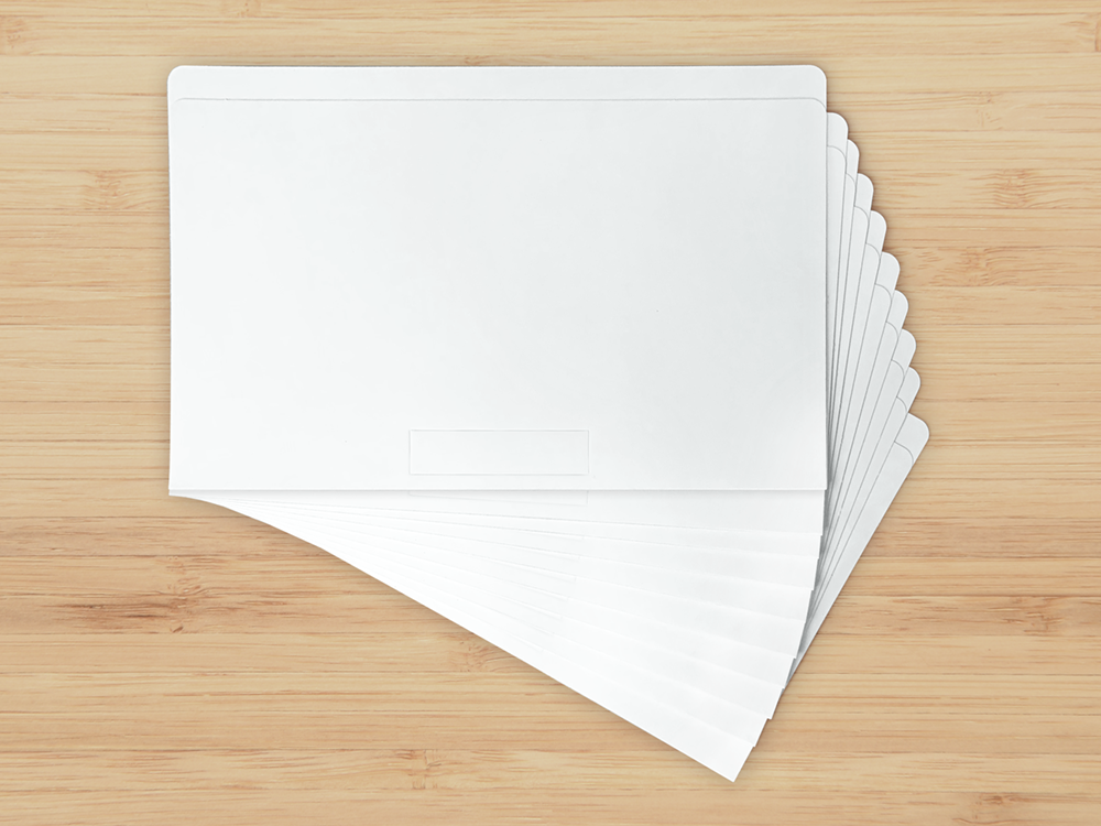 Up Filer Folders- Set of 10, white thick (18pt) legal file folders