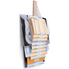Up Filer Original cascading wall mount file has 10 pocket / slots to organize letter, legal, and flat-files.  Made out of hardwood maple and nickel-plated steel it is made to last.